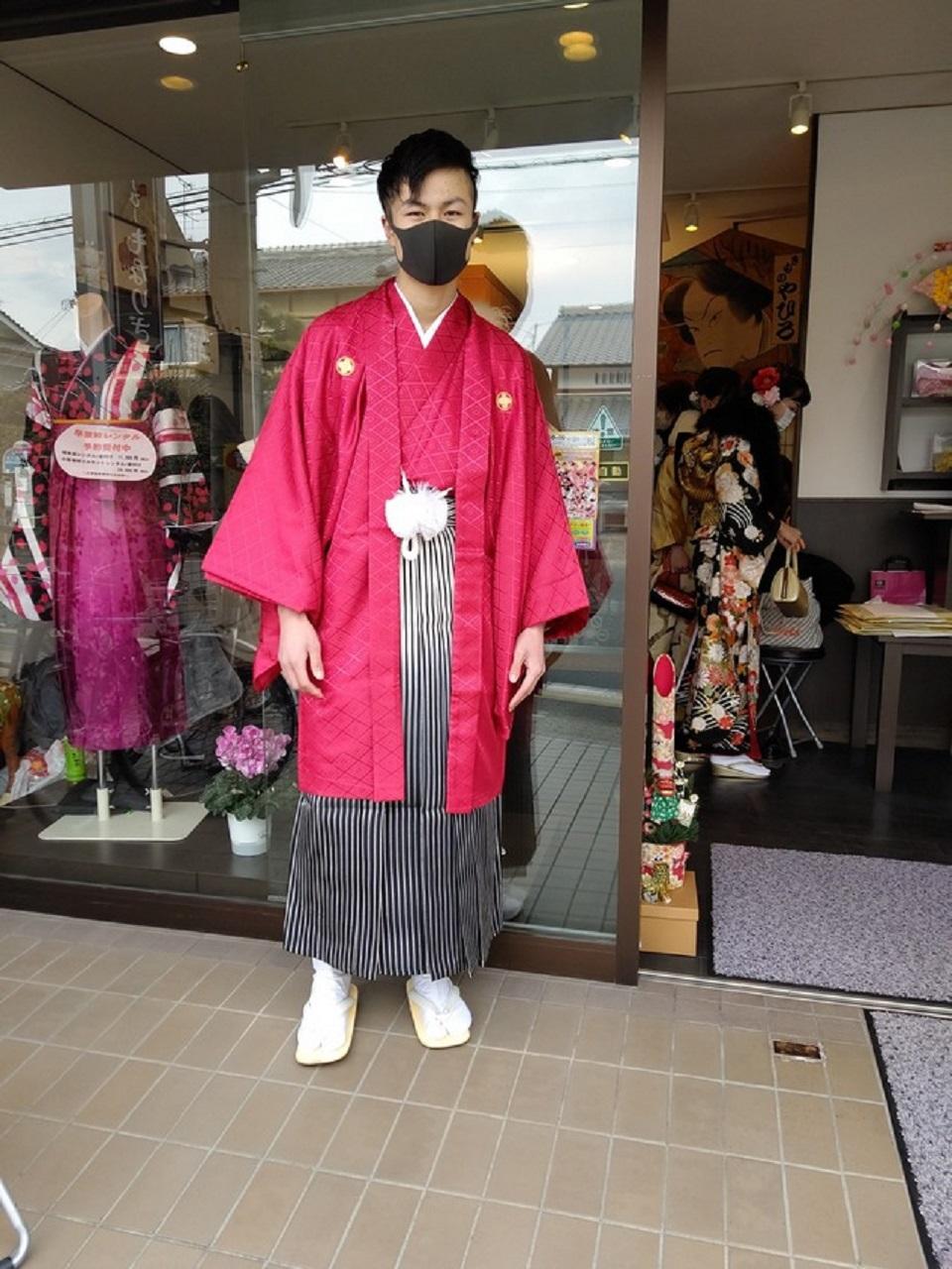 成人式に羽織袴
